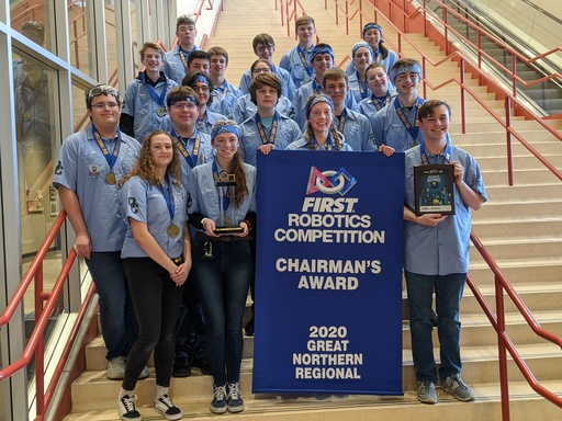 Round Table Robotics Honored with the Chairman's Award, the Highest Award in FIRST, at the Great Northern Regional