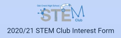 OCHS STEM Club Interest Form