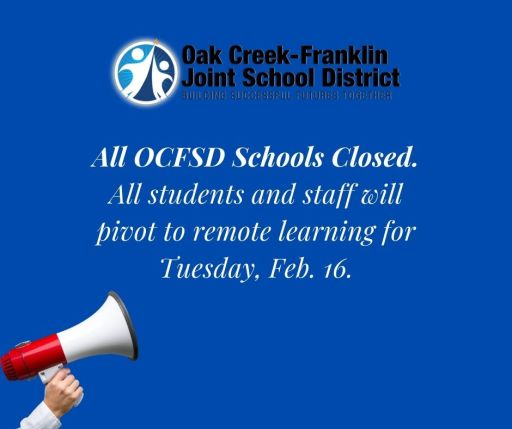 OCFSD Schools Closed, Students Attend Remotely
