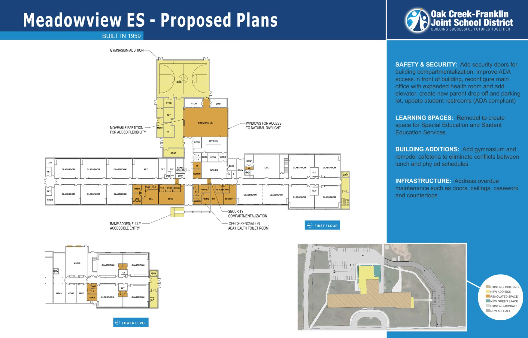 Meadowview Elementary proposed plans for 2018 referendum