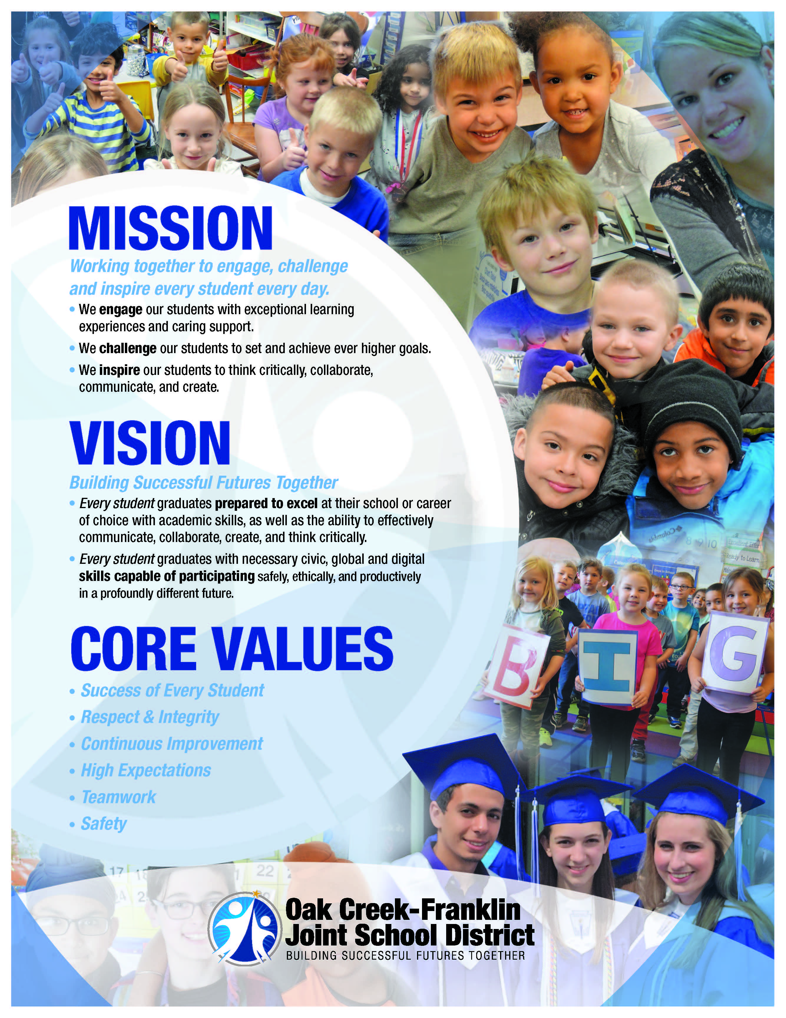Oak Creek-Franklin School District Mission and Vision