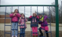 4K Students on the playground