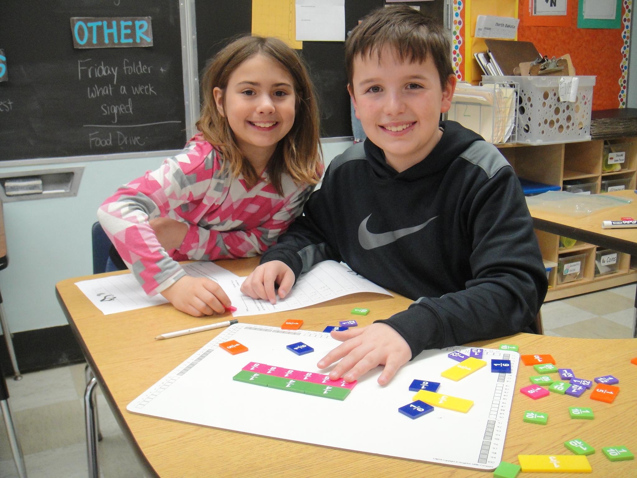 Two students working together